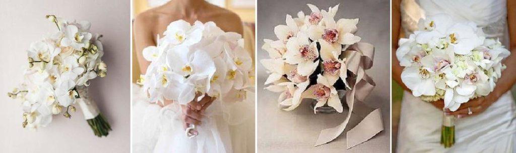 fehér orchidea menyasszonyi csokor