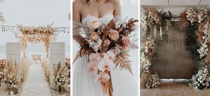 Esküvői dekoráció színek