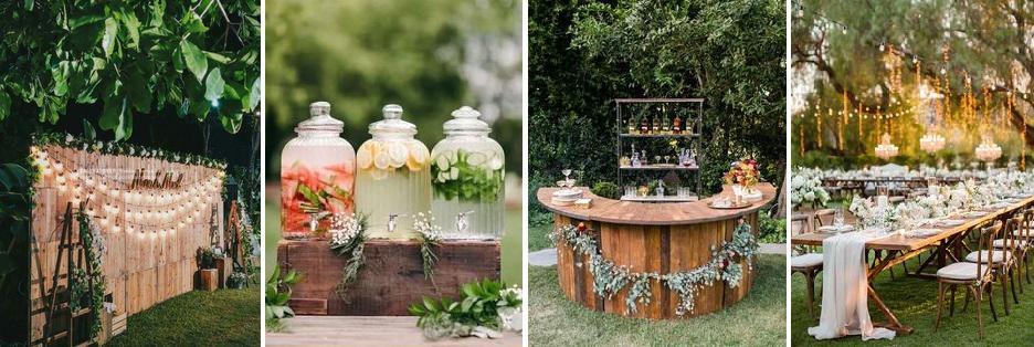 esküvői dekoráció szabadba