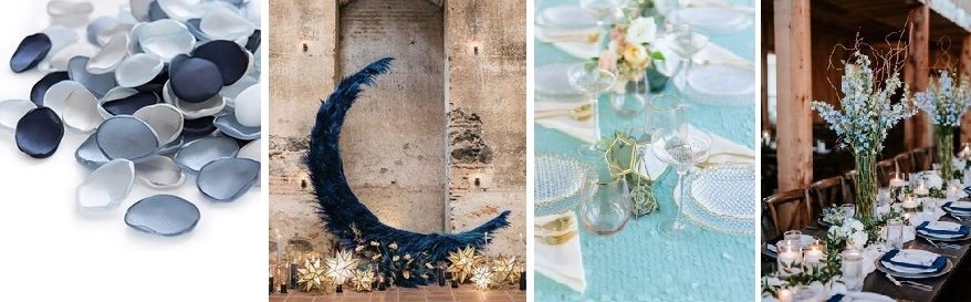 kék dekor