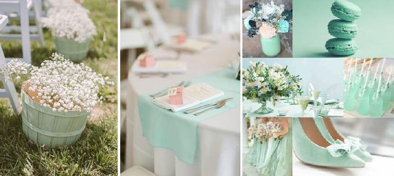 menta esküvődekoráció