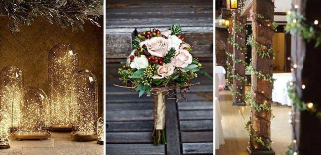 dekoráció téli esküvőre