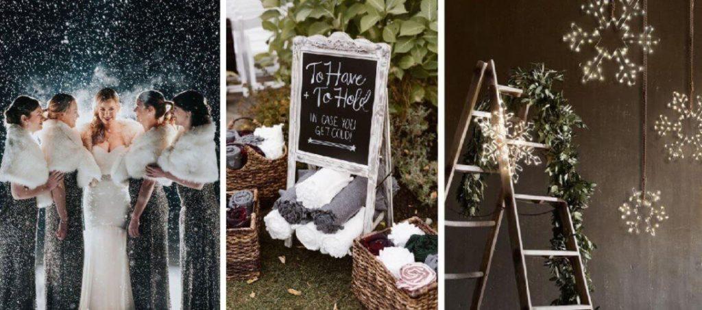 hangulatos téli esküvő