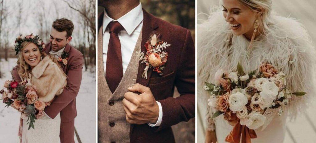 romantikus téli esküvő
