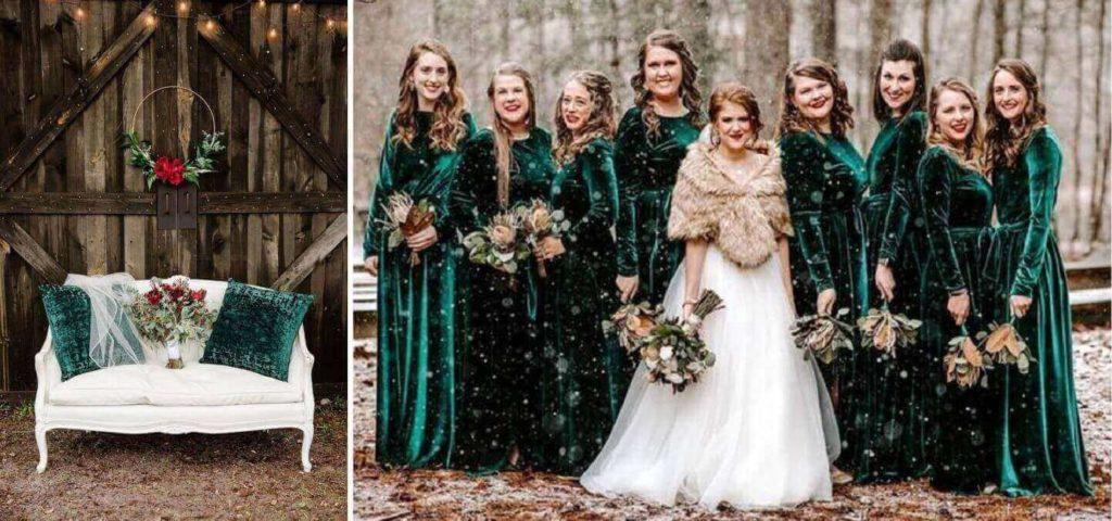 téli esküvő ruha