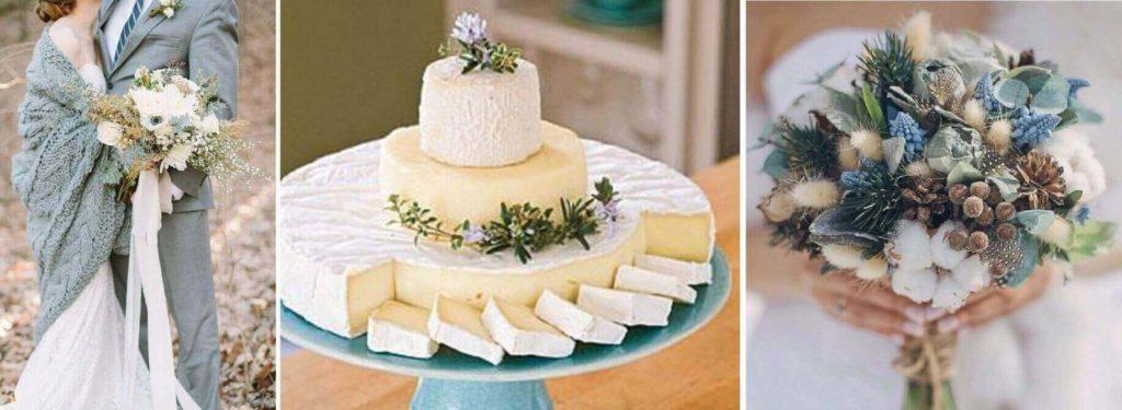 téli esküvői csokor
