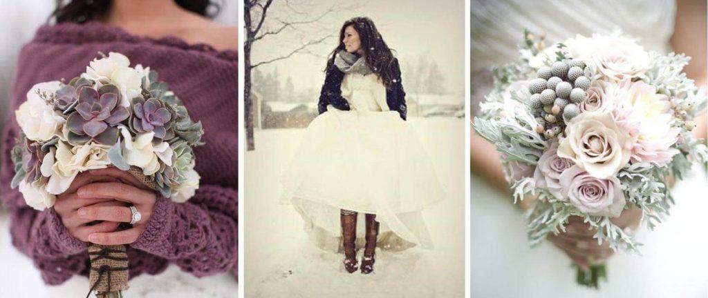 téli menyasszonyi csokor