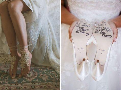 Különleges esküvői cipők