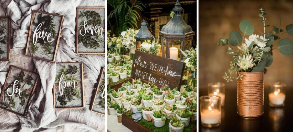 saját készítésű esküvői dekoráció