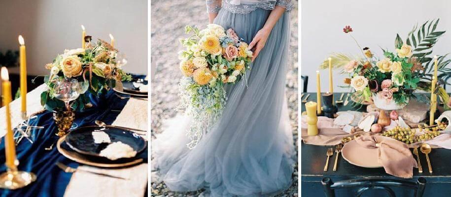 lila esküvői dekor