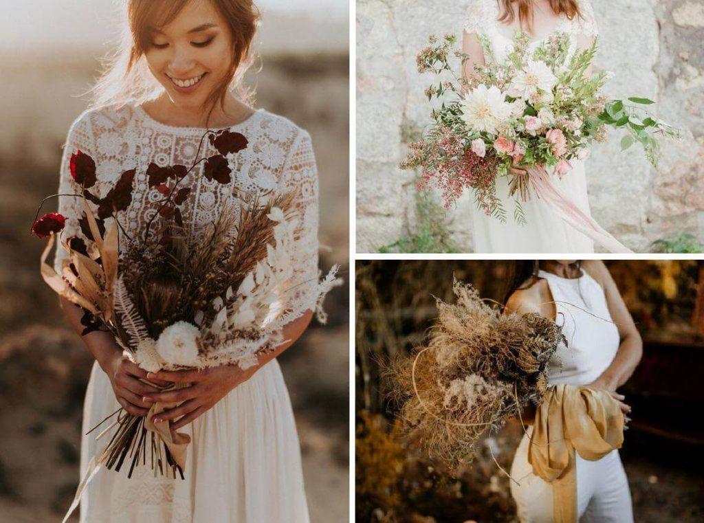 Menyasszonyi csokrok nem élő virágból